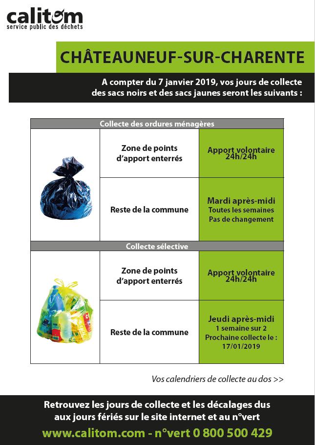 Calendrier Collecte Calitom.Info Collectes Calitom A Partir De Janvier 2019